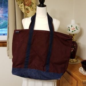 Used Lands' End Canvas Tote EXTRA LARGE